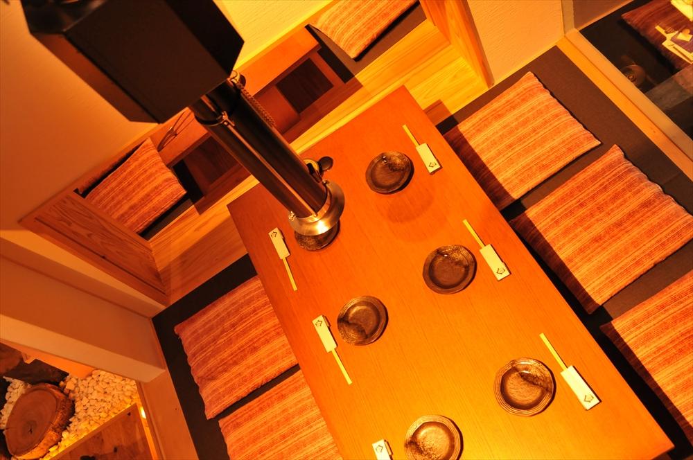 二階個室①(右手前とその奥が繋がります)