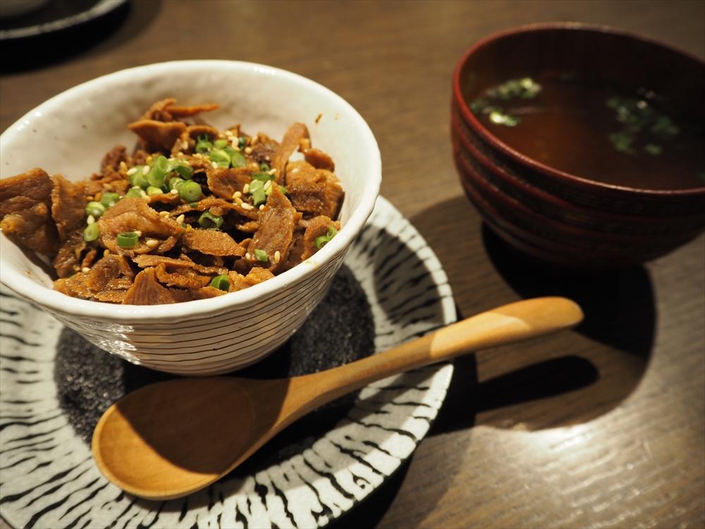 和牛で作ったお肉のご飯物・お吸い物